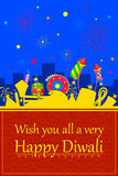 Colorful firecracker for Happy Diwali Stock Photos