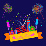 Colorful firecracker for Happy Diwali Royalty Free Stock Images