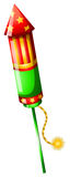A colorful firecracker. Illustration of a colorful firecracker on a white background Stock Photo