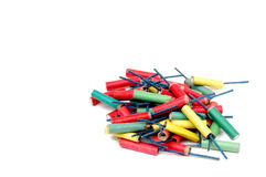 Colorful Firecrackers Isolated. Photo of Colorful Firecrackers Isolated Stock Photos