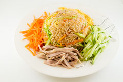 Colorful fired rice Royalty Free Stock Images