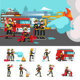 Colorful Firefighting Composition Stock Image