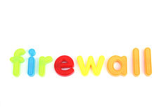 Colorful firewall letters Royalty Free Stock Photography