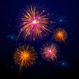 Colorful Firework. Vector illustration of colorful firework for celebration Stock Photography