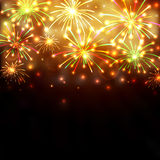 Colorful firework background Royalty Free Stock Image