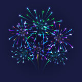 Colorful firework background Stock Photography