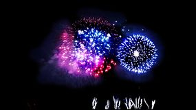 Colorful Firework - The Big Finale A Sparkling Showdown royalty free stock photography