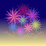 Colorful firework celebration. Stock Photography