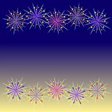 Colorful firework celebration. Royalty Free Stock Image
