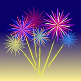Colorful firework celebration. Stock Photos