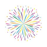 Colorful firework design stars on white background vector illustration