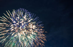 Colorful firework display Royalty Free Stock Images