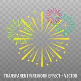 Colorful Firework Effect. Isolated on transparent Background. Eps10 Vector Background Stock Image
