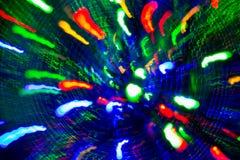 Colorful firework lights over black background Stock Image