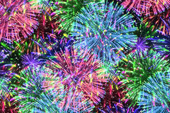 Colorful firework on midnight blue sky Royalty Free Stock Image