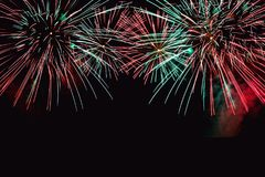 Fireworks abstract on dark background stock photo