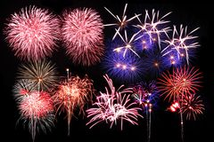 Colorful firework Royalty Free Stock Photo