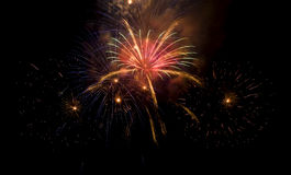 Colorful firework show Royalty Free Stock Photo