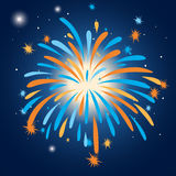 Colorful firework in the sky. Illustration Stock Photography