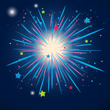 Colorful firework in the sky at night. Illustration Royalty Free Stock Image