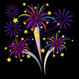Colorful Firework with stars. Eps10 Stock Images