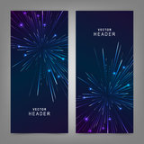 Colorful Firework. Website header or banner set Royalty Free Stock Photo