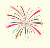 Colorful firework on white background. Illustration Royalty Free Stock Image