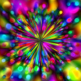 Colorful Fireworks. Very colorful fireworks burst abstract background Royalty Free Illustration