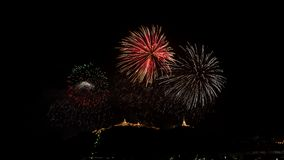 Colorful fireworks on Khao wang Royalty Free Stock Images