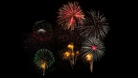 Colorful fireworks on Khao wang Royalty Free Stock Photo