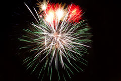 Colorful fireworks against black sky Royalty Free Stock Photo