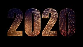 2020 from colorful fireworks with alpha