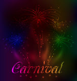 Colorful fireworks background for Carnival party Royalty Free Stock Photos