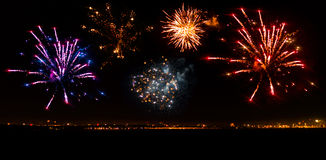 Colorful fireworks beautiful Stock Photography