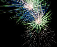 Colorful fireworks. On black background royalty free stock images