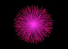 Colorful Fireworks on black background. Celebration concept Royalty Free Stock Photo
