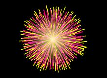 Colorful Fireworks on black background. Celebration concept Royalty Free Stock Images
