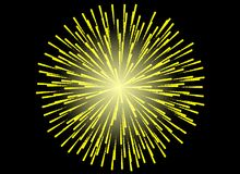 Colorful Fireworks on black background. Celebration concept Stock Image