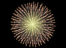 Colorful Fireworks on black background. Celebration concept Stock Photography