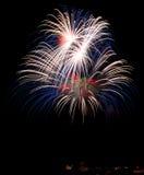 Colorful fireworks in black background, fireworks in Malta Stock Image