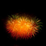 Colorful fireworks on the black sky. Background stock photography