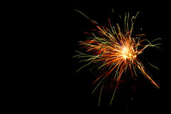 Colorful fireworks on the black sky Royalty Free Stock Image