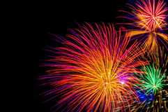 Colorful Fireworks Stock Photography
