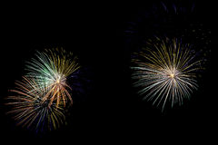 Colorful fireworks blast Royalty Free Stock Photo