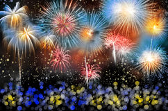Colorful fireworks Stock Image