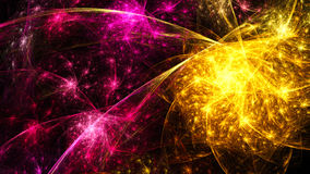 Colorful fireworks. Bolts of lightning. Colorful fireworks. Bolts lightning. 3D surreal illustration. Sacred geometry. Mysterious psychedelic relaxation pattern Stock Image
