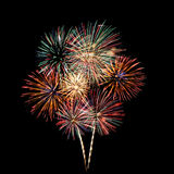 Colorful fireworks Bouquet Stock Photo