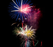 Colorful Fireworks. Bright fireworks in the sky Stock Photos
