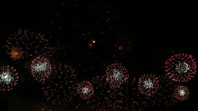 Colorful Fireworks stock video footage