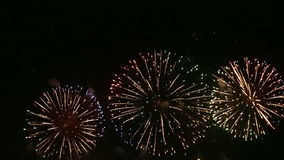 Colorful Fireworks stock footage